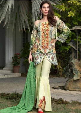 Maya by Noor Textiles Embroidered Lawn Unstitched 3 Piece Suit MYN19-L2 08 - Spring / Summer Collection