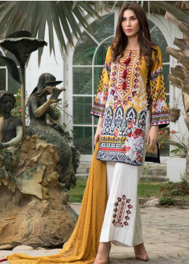 Maya by Noor Textiles Embroidered Lawn Unstitched 3 Piece Suit MYN19-L2 10 - Spring / Summer Collection