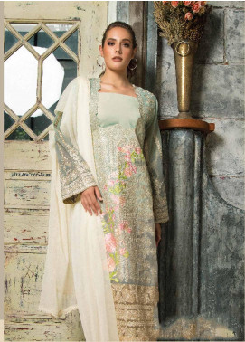 Mayeda Peerzada Embroidered Chikankari Unstitched 3 Piece Suit MDP19CK 01 - Luxury Collection