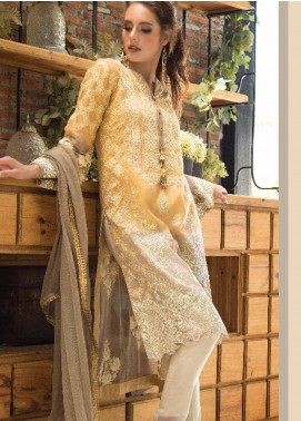 Mayeda Peerzada Embroidered Chikankari Unstitched 3 Piece Suit MDP19CK 04 - Luxury Collection