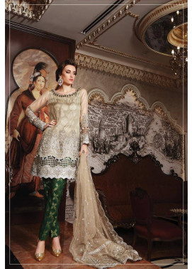 Maria B Embroidered Chiffon Unstitched 3 Piece Suit MB17C 01