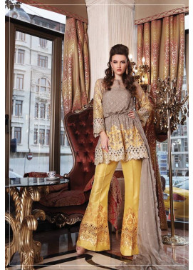 Maria B Embroidered Chiffon Unstitched 3 Piece Suit MB17C 02