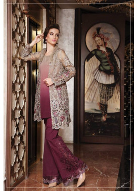 Maria B Embroidered Chiffon Unstitched 3 Piece Suit MB17C 04