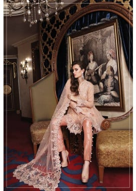 Maria B Embroidered Chiffon Unstitched 3 Piece Suit MB17C 05