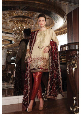 Maria B Embroidered Chiffon Unstitched 3 Piece Suit MB17C 06