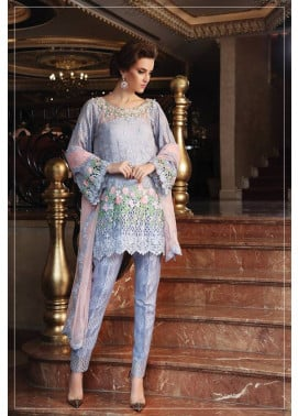 Maria B Embroidered Chiffon Unstitched 3 Piece Suit MB17C 07