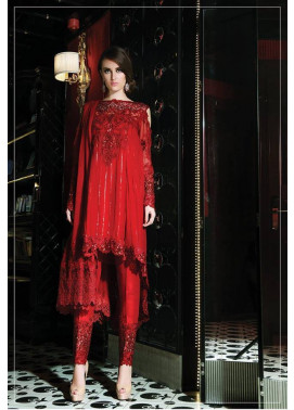 Maria B Embroidered Chiffon Unstitched 3 Piece Suit MB17C 08