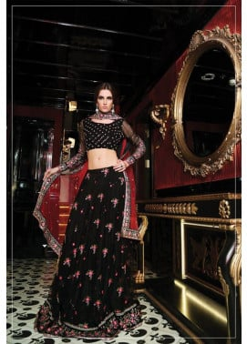 Maria B Embroidered Chiffon Unstitched 3 Piece Suit MB17C 10