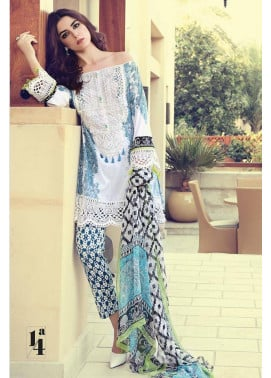 Maria B Embroidered Lawn Unstitched 3 Piece Suit MB17L 14A