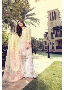 Maria B Embroidered Lawn Unstitched 3 Piece Suit MB17L 4A
