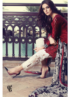 Maria B Embroidered Lawn Unstitched 3 Piece Suit MB17L 6A