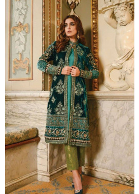 Maria B Embroidered Velvet Unstitched 2 Piece Suit MB17W2 04