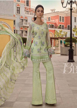 Maria B Embroidered Lawn Unstitched 3 Piece Suit MB18L 13B - Spring / Summer Collection