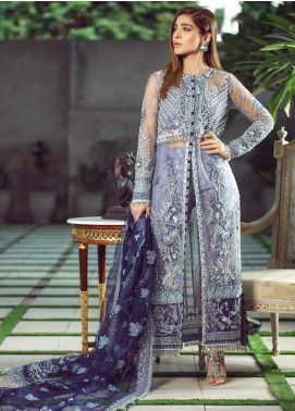 Meer by Maryam Hussain Embroidered Chiffon Unstitched 3 Piece Suit MRH19W FALAK - Wedding Collection