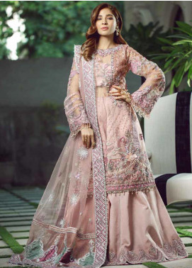 Meer by Maryam Hussain Embroidered Chiffon Unstitched 3 Piece Suit MRH19W HAYAAT - Wedding Collection