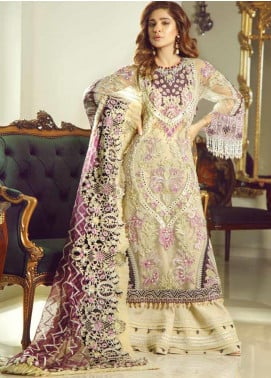 Meer by Maryam Hussain Embroidered Chiffon Unstitched 3 Piece Suit MRH19W INAYAT - Wedding Collection