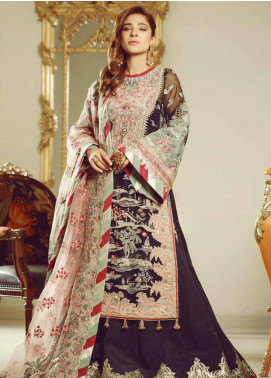 Meer by Maryam Hussain Embroidered Chiffon Unstitched 3 Piece Suit MRH19W NOOR - Wedding Collection