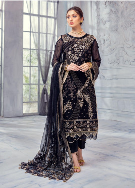 Meeral Embroidered Chiffon Unstitched 3 Piece Suit MRL20LX 06 - Luxury Collection