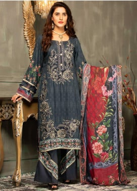 Mehak by Mohagni Embroidered Linen Unstitched 3 Piece Suit MK20MO 02 - Winter Collection
