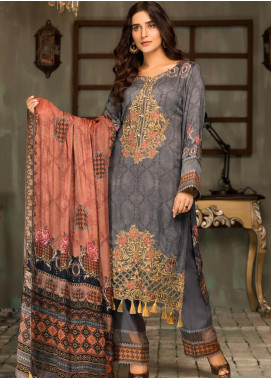 Mehak by Mohagni Embroidered Linen Unstitched 3 Piece Suit MK20MO 04 - Winter Collection