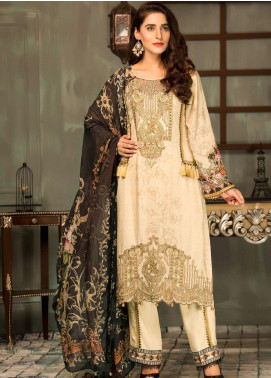 Mehak by Mohagni Embroidered Linen Unstitched 3 Piece Suit MK20MO 07 - Winter Collection