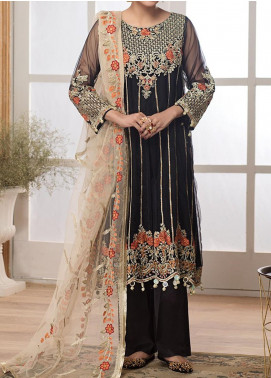 Meherma by Mohagni Embroidered Net Unstitched 3 Piece Suit MO20M 02 - Luxury Collection