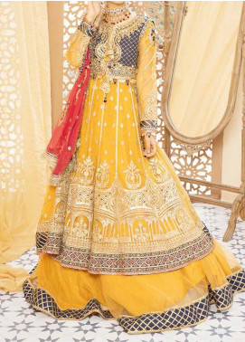 Mehfil by Adan's Libas Embroidered Net Unstitched 3 Piece Suit AL20MW 1-RAKS - Wedding Collection