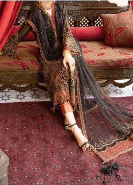 Mehfil by Adan's Libas Embroidered Chiffon Unstitched 2 Piece Suit AL20MW 2-MAKHMAL - Wedding Collection