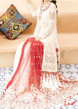 Mehfil by Adan's Libas Embroidered Chiffon Unstitched 3 Piece Suit AL20MW 3-TABEER - Wedding Collection
