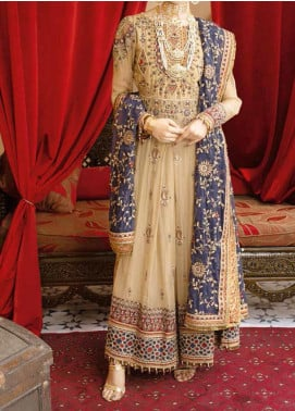Mehfil by Adan's Libas Embroidered Chiffon Unstitched 2 Piece Suit AL20MW 7-AFREEN - Wedding Collection