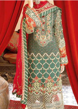 Mehfil by Adan's Libas Embroidered Chiffon Unstitched 3 Piece Suit AL20MW 9-SAQAFAT - Wedding Collection