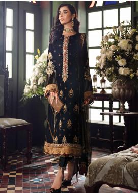 Mehrak by Iznik Embroidered Velvet Unstitched 3 Piece Suit IZ20M 09 Nava - Festive Collection