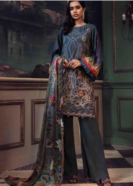Mehrunisa by Motifz Embroidered Cotton Satin Unstitched 3 Piece Suit MT20MW 2667-FOSSIL - Winter Collection