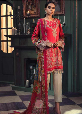Mehrunisa by Motifz Embroidered Cotton Satin Unstitched 3 Piece Suit MT20MW 2669-PUNCH - Winter Collection
