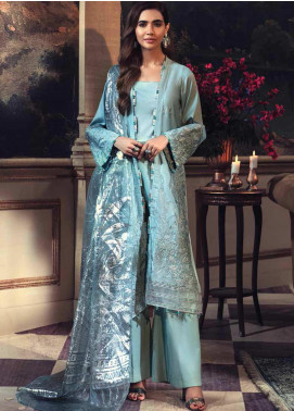 Mehrunisa by Motifz Embroidered Cotton Satin Unstitched 3 Piece Suit MT20MW 2676-ARCTIC - Winter Collection