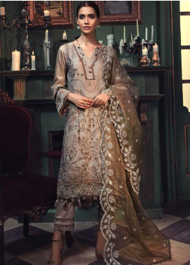Mehrunisa by Motifz Embroidered Cotton Satin Unstitched 3 Piece Suit MT20MW 2677-STONE - Winter Collection