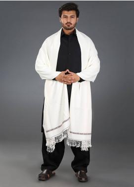 Sanaulla Exclusive Range  Acrylic Weaved Men's Shawl 03 - Winter Collection