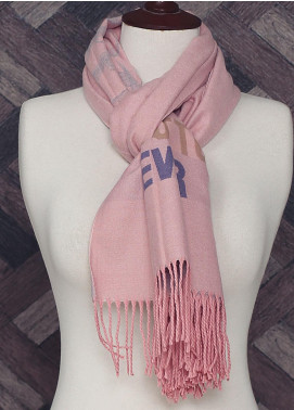 Sanaulla Exclusive Range Printed Acrylic Mufflers 19-5 Dark Pink