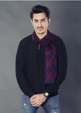 Sanaulla Exclusive Range Woollen Muffler 19-Multi-4 - Winter Collection