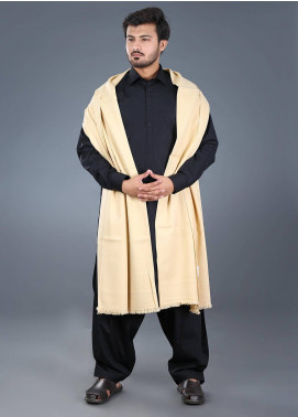 Sanaulla Exclusive Range  Pashmina Weaved Men's Shawl 04 - Winter Collection