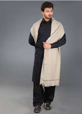 Sanaulla Exclusive Range  Pashmina Weaved Men's Shawl 05 - Winter Collection