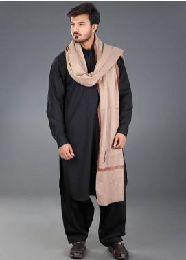 Sanaulla Exclusive Range Hand Work Embroidered Pashmina  Men's Shawl 09 - Winter Collection