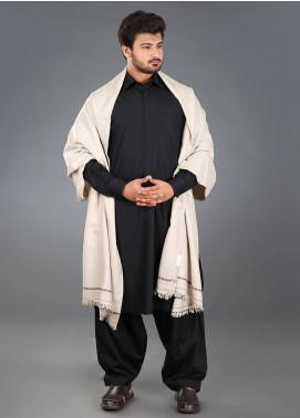 Sanaulla Exclusive Range  Pashmina Weaved Men's Shawl 12 - Winter Collection