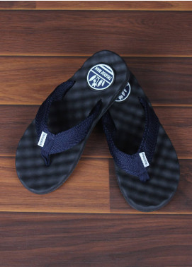 Sanaulla Exclusive Range  Rubber Flip Flops For Men 1658 Blue