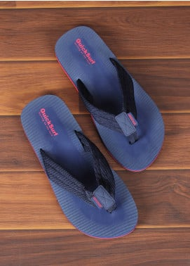 Sanaulla Exclusive Range  Rubber Flip Flops For Men 2319 Blue
