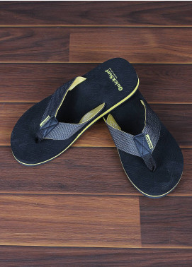 Sanaulla Exclusive Range  Rubber Flip Flops For Men 2370 Grey