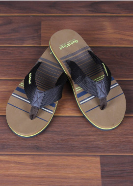 Sanaulla Exclusive Range  Rubber Flip Flops For Men 2385 Black