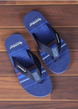 Sanaulla Exclusive Range  Rubber Flip Flops For Men 2385 Navy Blue