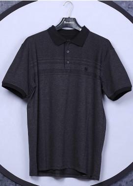Sanaulla Exclusive Range Cotton Casual T-Shirts for Men - 5001 Dark Grey