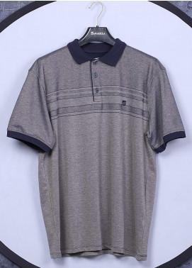Sanaulla Exclusive Range Cotton Casual Men T-Shirts - 5001 Light Grey